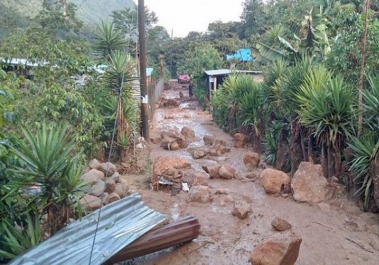 Más de 35 personas fueron evacuadas por lluvias en Alta Verapaz